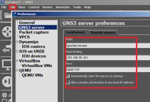 GNS3-remote-srv