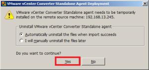 Установка агента конвертирования