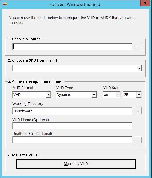 Конвертирование установочных ISO и WIM образов в VHD файлы