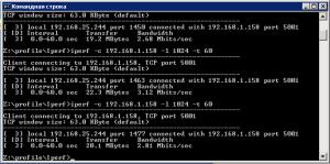 тест скорости и пропускной способности сети программой Iperf