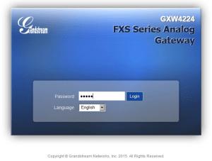 Настройка IP шлюза GXW4224