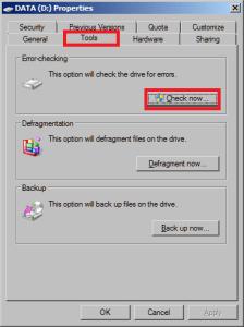 Запуск проверки жесткого диска средствами Windows 7 и 8.1