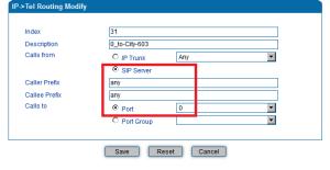 Настройка маршрутизации звонка с IP на местный номер