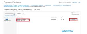 Загрузка обновленной прошивки для Cisco SPA8800