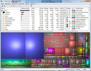 WinDirStat программа для анализа занятого дискового пространства